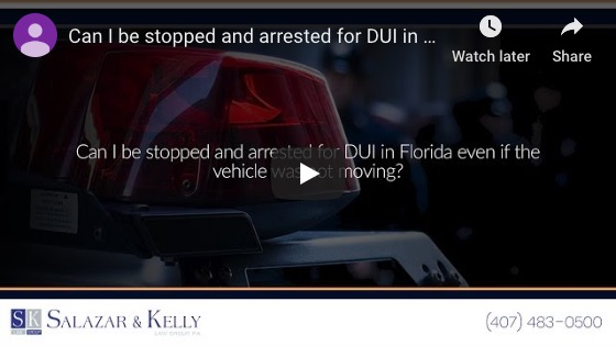 Can I be stopped and arrested for DUI in Florida even if the vehicle was not moving?